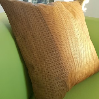 NUO reference upholstery wood veneer pillow